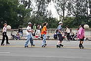 In Caracas Venezuela Locals Roller Skate For Christmas Season Mass Services