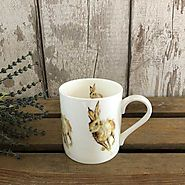 Hare Mug - Fine Bone China