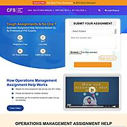 Operations Management Assignment Help @ affordable price