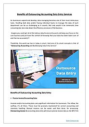Advantages of Outsourcing Accounting Data Entry Services