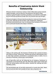 Insolvency Admin Work Outsourcing Benefits