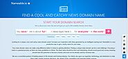 News Website Domain Name Generator -Nameable