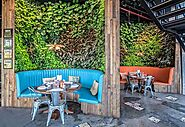 Restaurant Designed with Living Plant Walls