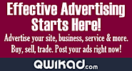 QwikAd.com Classified Ads & Marketplace,Fast,Easy to use, effective that's exactly what QwikAd - Be your own boss...