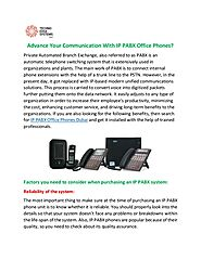 Advance Your Communication With IP PABX Office Phones?
