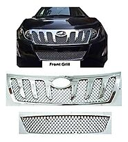 AUTO ATTIRE Premium Quality Chrome Plated Front Grill for XUV 500 - Front Radiator Grill