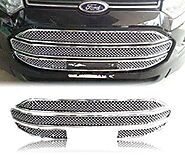 AUTO ATTIRE Premium Quality Chrome Plated Front Grill for ECO Sport - Ecosport - Front Radiator Grill