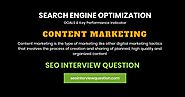 Content Marketing | Goals & KPI | SEO Interview Question