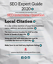 SEO Expert Guide - Local SEO 2020 | Local Citation -