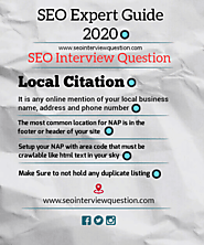 SEO Expert Guide Local SEO 2020 | Local Citation