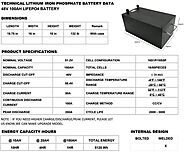 48V 100AH LBS LifePO4 Battery