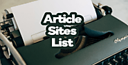 High Da 60+ Free Article Submission Sites List 2020 | Offpagesavvy
