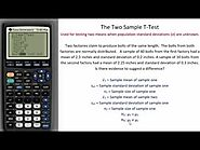 Two Sample T-Test - TI Calculator Tutorial - Detailed instructions with Example