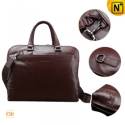 Men Brown Leather Business Handbags CW901577 - CWMALLS.COM