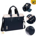 Blue Leather Business Shoulder Handbags CW901580 - CWMALLS.COM