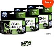 HP No 804XL (HP804XLBLKCOL3PK), including 2x black, 1x color ink cartridges