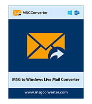 MSG to Windows Live Mail Converter to Import MSG to Windows Mail