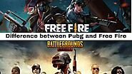PUBG vs Free Fire: Major Difference between PUBG and Free Fire