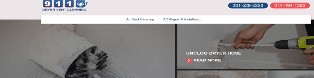 Headline for 911 Dryer Vent Cleaning Houston TX