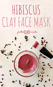 Simple Hibiscus Face Mask