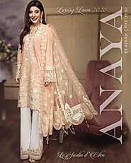 Lawn Printed and Embroidered Suits | Buy Anaya Lawn Suit On Sale exclusive at Replica Zone