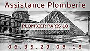 Plombier Paris 18 - Intervention de qualité - Déplacement 39€