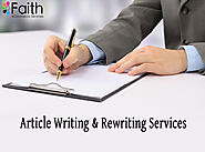 Article Writing & Rewriting Services