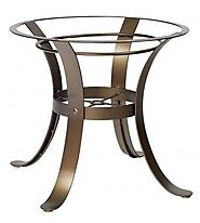 Wrought Iron Outdoor Table Bases (Cascade Series)