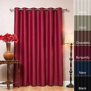 "Best Home Fashion Chocolate Wide Width Grommet Top Thermal Blackout Curtain 80""W X 84""L 1 Panel - BWW"