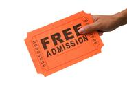 Admission is free because it is sponsored!