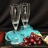 Personalised Champagne Glasses - Indiagift.in
