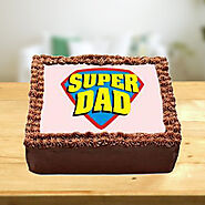 Super Dad Photo Cake Home Delivery | Indiagift