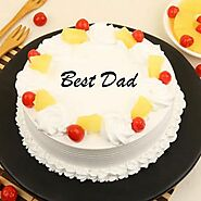 Send Best Dad Pineapple Cake Online in India at Indiagift.in