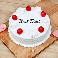 Fathers Day Vanilla Cake - Indiagift.in