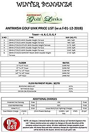 Starting with best price list of Antriksh Golf Links - Payment Plan