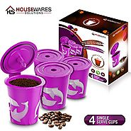 FROZ-CUP 2.0 - 4 Refillable/Reusable K-Cups for Keurig 2.0 - K300, K350, K400, K450, K500, K550 Series and all 1.0 Br...