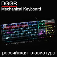 DGGR 2068 Blue Black Red Axis Mechanical Keyboard | Shop For Gamers