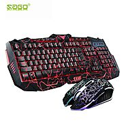 Russian Keyboard C-KB004 Ergonomic Keyboard & Mouse | Shop For Gamers