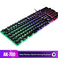 iMice Gaming Keyboard 104 Keys Rainbow Backlit Steam Punk Keyboard