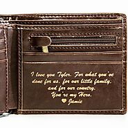 Worlds #1 Best Seller Personalized Leather Wallets | Swanky Badger