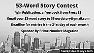 Prime Number Magazine 53-Word Story Contest | Sweepstakeskeys