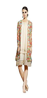 Sinina Multi Georgette Embroidered And Printed Women'S Wear-Aura225