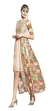 Sinina Multi Color Georgette Embroidered And Printed Women'S Wear-Aura219
