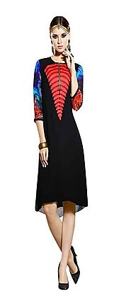 Sinina Black Georgette Embroidered And Printed Women'S Wear-Aura218