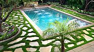 Swimming Pool Landscaping - Majestic Home Services