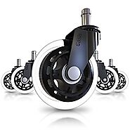 Office Chair Caster Wheels (Set of 5) - Heavy Duty & Safe for All Floors