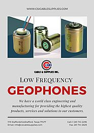 Low Frequency geophones Los Angeles California