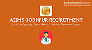 AIIMS Jodhpur Recruitment 2020 - 131 Senior Resident @ aiimsjodhpur.edu.in