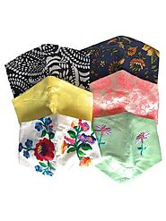 Aaliya Multi-Color Printed 3 Layered Cotton Face Masks (Pack of 6)