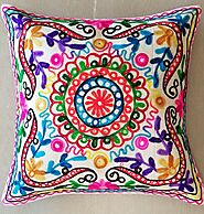 Indian Embroidery Cushion Cover